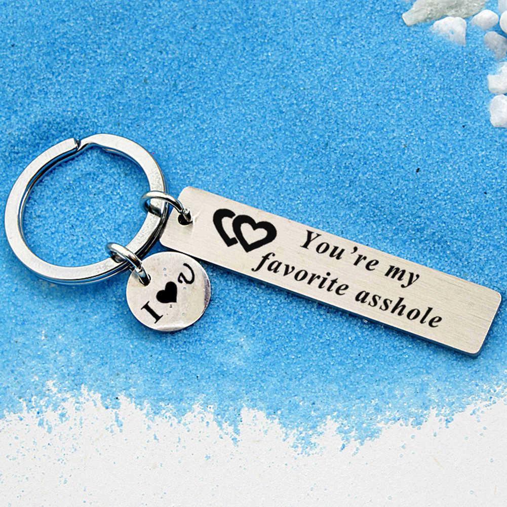 2019 แฟชั่นยอดนิยม Unisex จดหมายภาษาอังกฤษของฉันที่ชื่นชอบไอ้ Bitch พวงกุญแจผู้ถือแหวนกุญแจแฟนแฟนแฟน