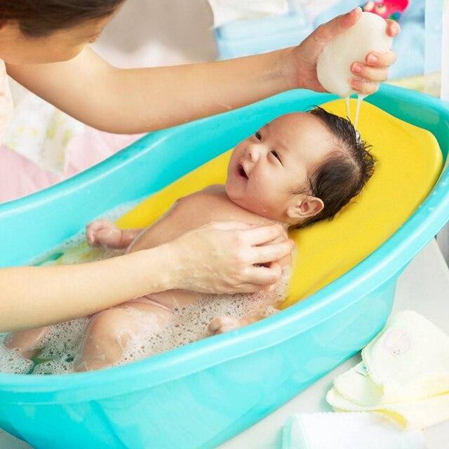 Almohadilla de espuma de esponja antideslizante para bebé imitación de uterino Medio ambiente bañera de baño para bebé