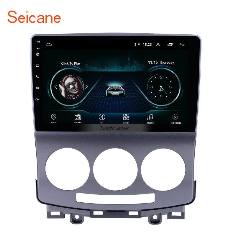 Seicane GPS Navigation Radio pour 2005-2010 vieux Mazda 5 Android 8.1 HD écran tactile 1024*600 lecteur multimédia Bluetooth téléphone SWC