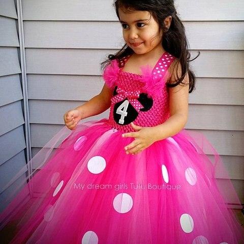 b755664e0f9bb Pk Bazaar minnie girls dress posh dream minnie cartoon princess kids ...