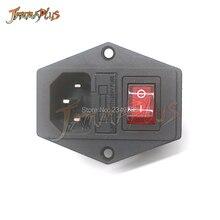 IO переключатель с предохранителем 3 Pin IEC320 C14 вилка вкл/выкл розетка с гнездовой вилкой для питания шнур аркадная машина