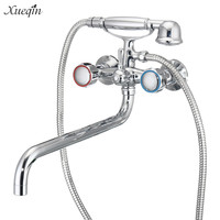 Xueqin South America Artistic Type Bathroom Wall Mounted Double Handle Bath Faucet Shower Faucets Mixer Shower System