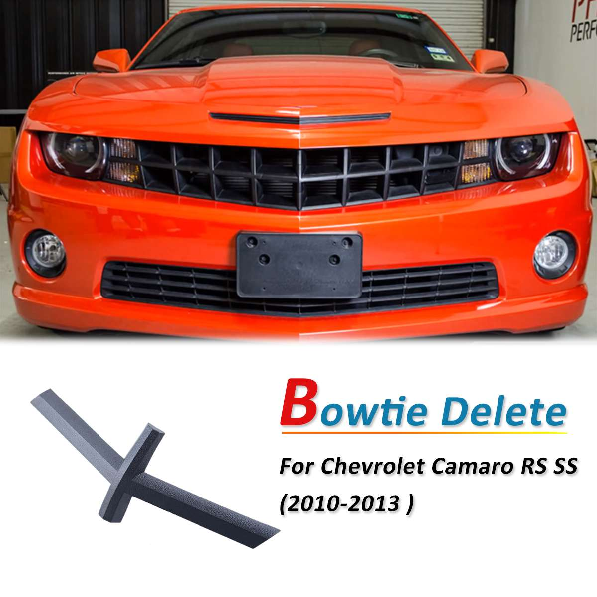 US $13 34 44% OFF Black Bowtie Delete Grill Cross Cover Decoration Emblem  For Chevrolet Camaro RS SS 5th Gen 2010 2011 2012 2013-in Racing Grills  from