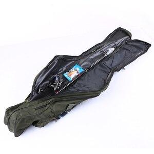 Image 5 - FDDL المحمولة للطي الصيد أكياس قضيب الناقل قماش قصبة صيد خشبية أدوات حقيبة التخزين معدات صيد الأسماك معالجة 120/130/ 150 سنتيمتر