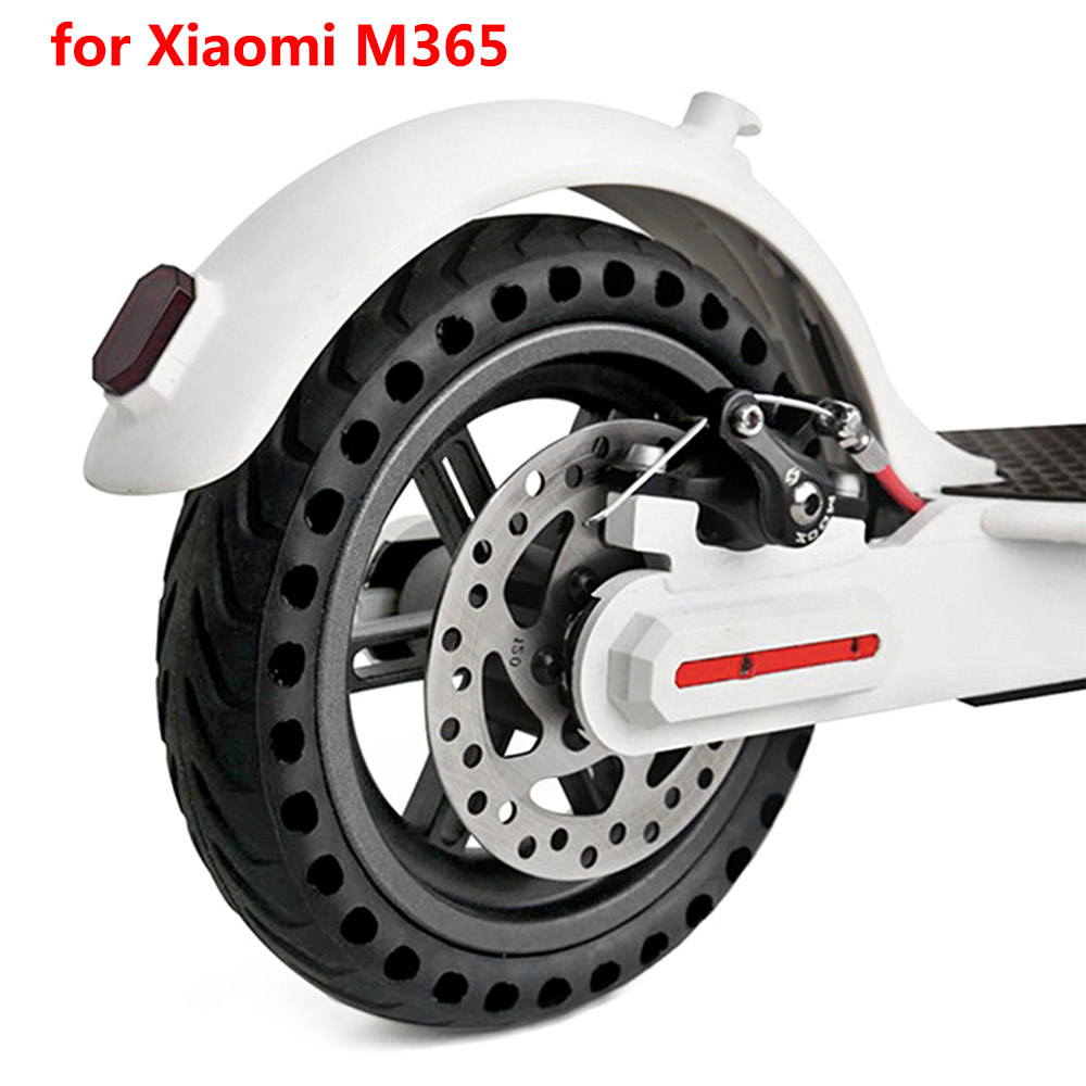 Rubber Solid Rear Tire For Xiaomi M365 Electric Scooter 16.5&17cm Outer Diameter Wheel with Hollow Design Scooter Accessories