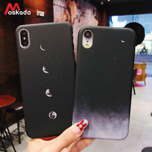 Moskado Phone Case For iphone 11 Pro 8 6 6s Plus X XS Max Starry Sky Space Moons Volcano Cover 5S SE XR Hard
