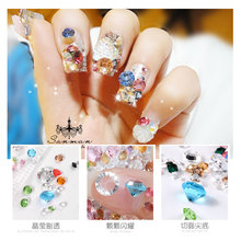 Nail Art Rhinestones Jewelry Nails Glass Micro Drill Decoration Nude Diamond Transparent AB Crystal Stones