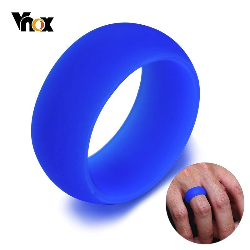 Vnox 9mm Stylish Silicone Wedding Rings for Men Women Soft Rubber Bands Casual Anel