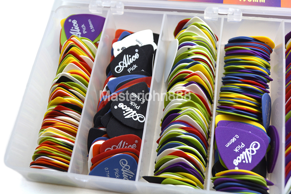 Lots Of 50pcs Alice Matte Nylon Electric/Acoustic Guitar Picks 6 Thickness Optional Free Shipping