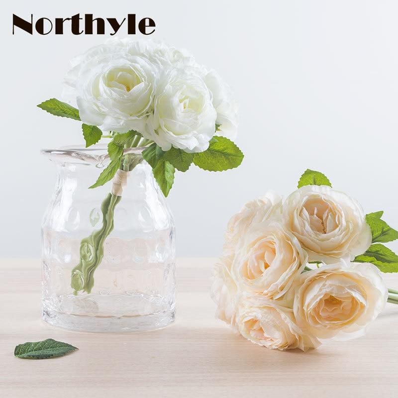 Artificial Silk Camellia Bundle - 11 Tall X 7 Width  Wedding Decoration Fake Flowers Bouquet Arrangement Home Decor