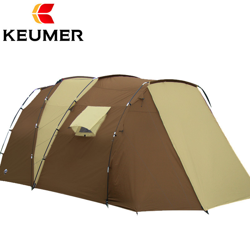 Luxury 210t Polyester Family Camping Tent For 5-8 Persons Double Layer Waterproof Open Tents Outdoor mobi outdoor camping equipment hiking waterproof tents high quality wigwam double layer big camping tent