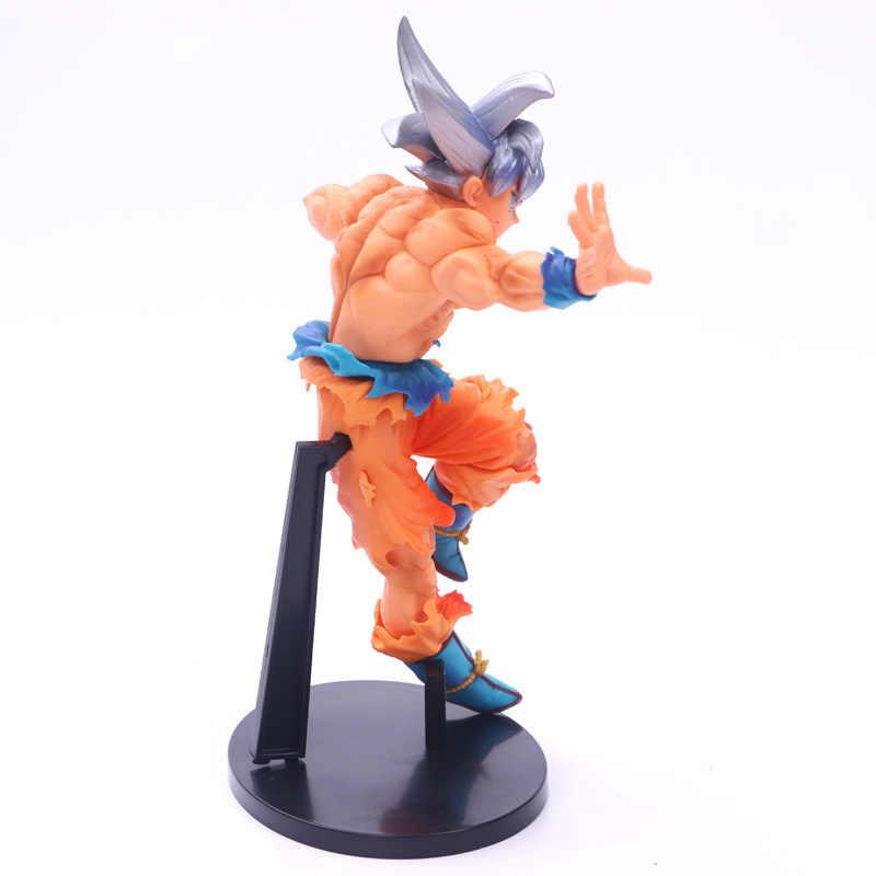 Anime Dragon Ball Z Ultra Instinto Migatte Não Gokui Super Saiyan Goku Action Figure Toy Pvc Modelo De Cabelo de Prata BANPRESTO