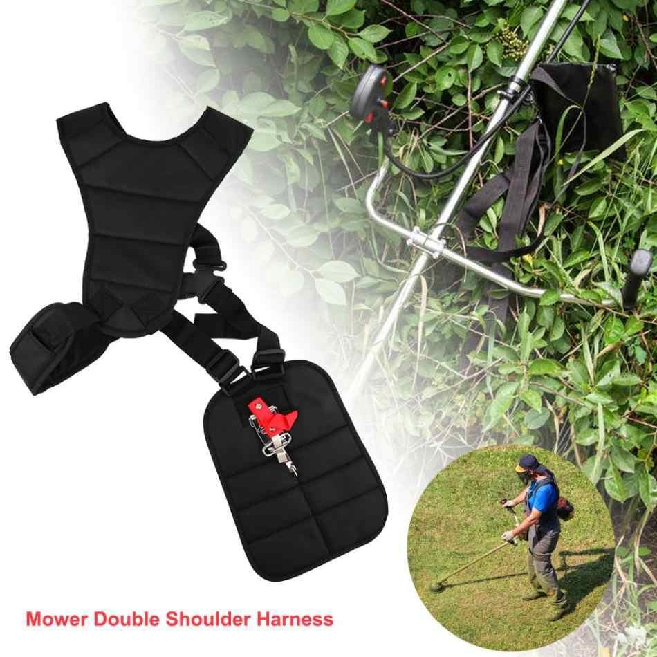 Cortador de Escova cortador de Grama de jardim Duplo Arnês Strimmer Alça Acolchoada Ajustável Ferramentas de Jardim