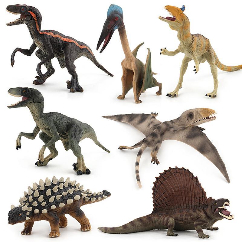 Simulation Tyrannosaurus Rex Triceratops Dinosaur Animal Model Figures Home Decor Decoration Accessories Figurine Kids Gift Toys