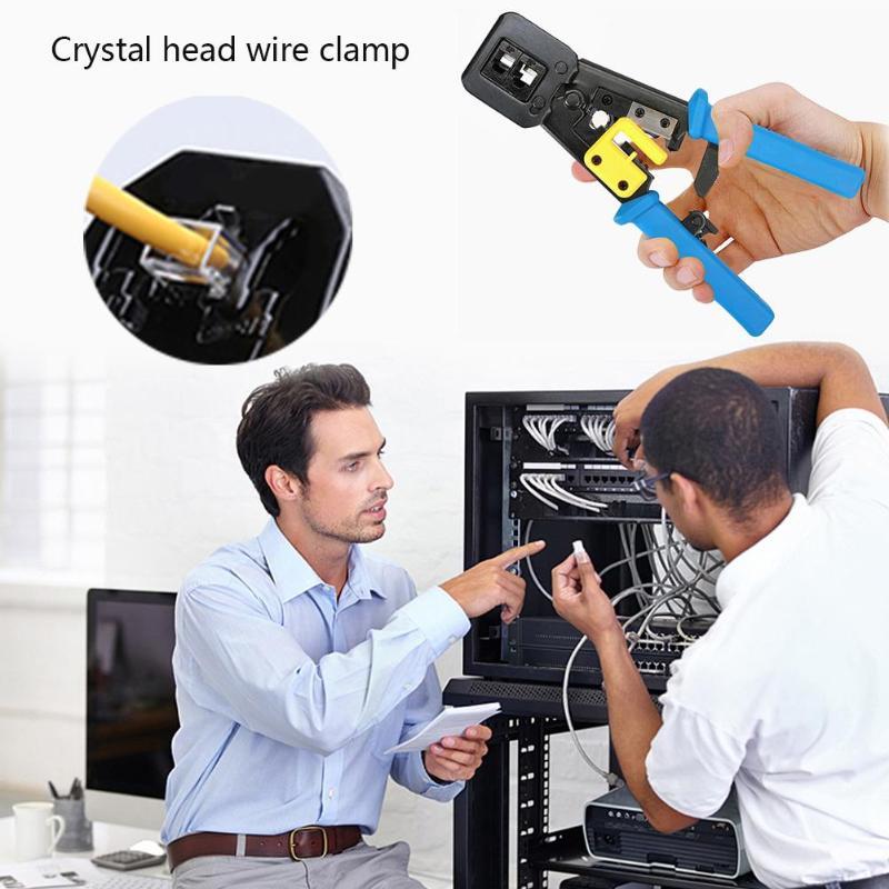 2019 offre spéciale 18 pièces/ensemble RJ11 RJ45 Kit d'outils de réparation de réseau Portable câble Ethernet pince à sertir pince à dénuder