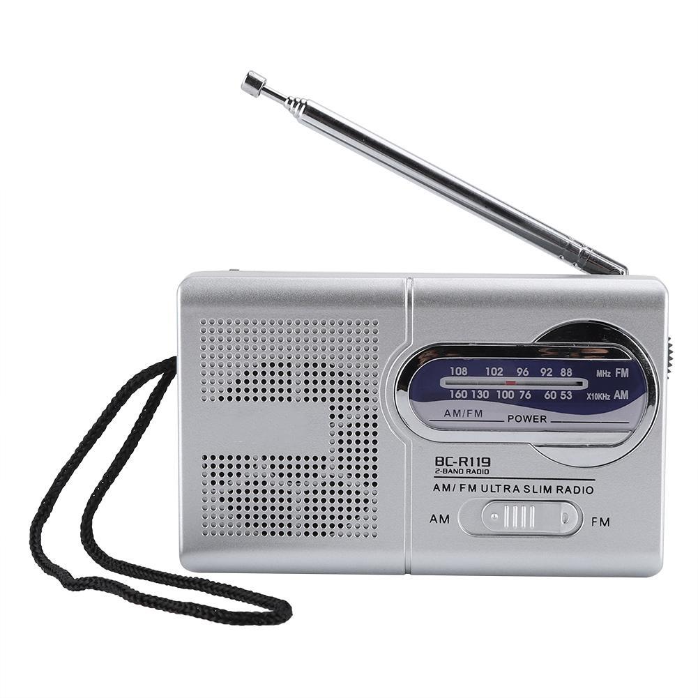 Tragbares Audio & Video Multi-funktion Mini Pocket-am/fm Bc-r119 Radio Lautsprecher Empfänger Teleskop Antenne Gute WäRmeerhaltung