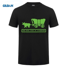 GILDAN Designer T Shirts Tall Died Of Dysentery Oregon Video Game Trail Vintage 80S Computer O-Neck Short-Sleeve Mens Shirt
