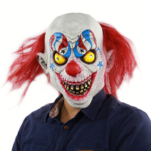 Horror Clown Mask Scary Killer Halloween Terror Joker Movie Full Face Latex