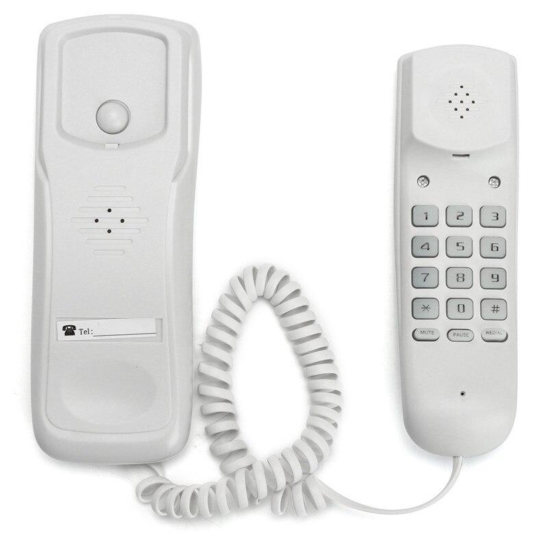 Mini Parete di Telefono Telefono di Casa Albergo Ufficio del Desktop Via Cavo A Muro Del Telefono Chiamante Telefono Fisso ID Chiamante Telefono di Rete Fissa