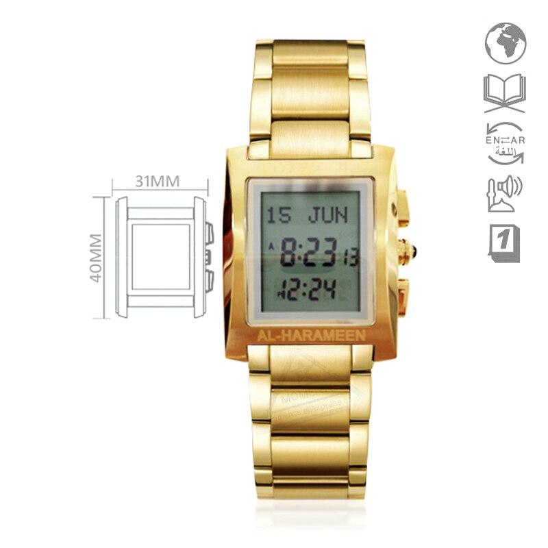 Azan Horloge voor Man met Qiblah Kompas Hijri Islamitische Alfajr Athan Horloge voor Moslim Adhan met Gebed Tijd 6287 WS06-in Digitale Klokken van Horloges op  Groep 1