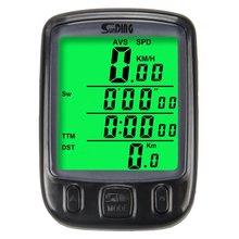 SUNDING Bike Computer Speedometer Wireless Waterproof Bicycle Odometer Cycle Computer Multi-Function LCD Back-Light Display цена 2017