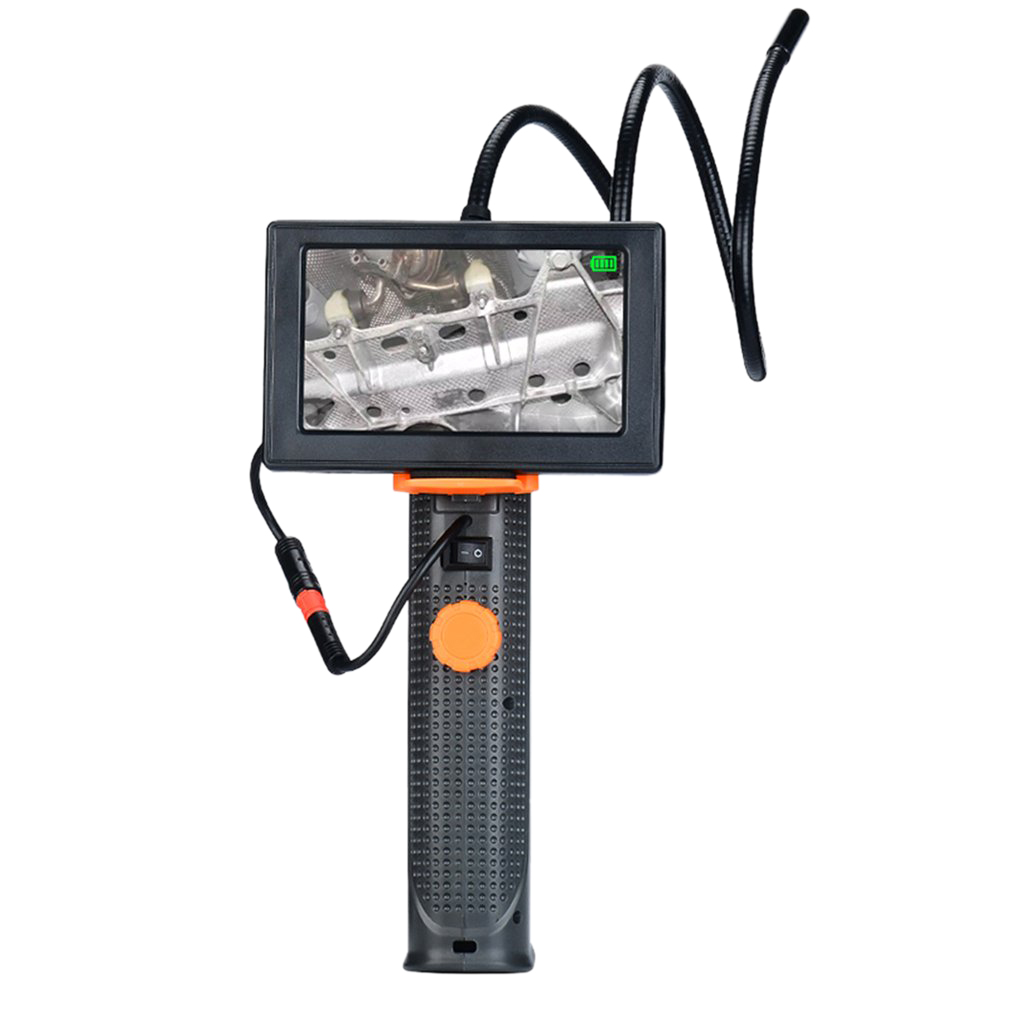 WSFS Hot Professional Handheld 4 3 Inch Endoscope Snake Borescope Industrial Video Inspection Waterproof Camera