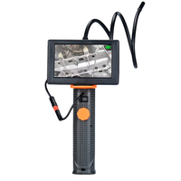 WSFS Hot Professional Handheld 4.3 Inch Endoscope Snake Borescope Industrial Video Inspection Waterproof Camera