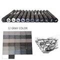 STA 6/12 серые художественные маркеры в градациях серого цвета  набор маркеров с двойной головкой для кисти  ручка  маркер для рисования  школьн...
