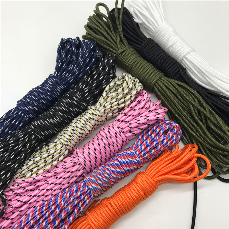 10Yards/Lot 3mm Solid Parachute Cord Lanyard Rope Mil Spec Type One Strand Climbing Camping Survival Equipment Paracord