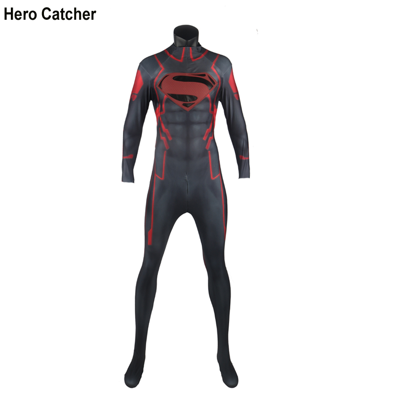 Hero Catcher High Quality Superboy Costume With Embossed Logo Muscle Shade Super Boy Cosplay Costume For Party