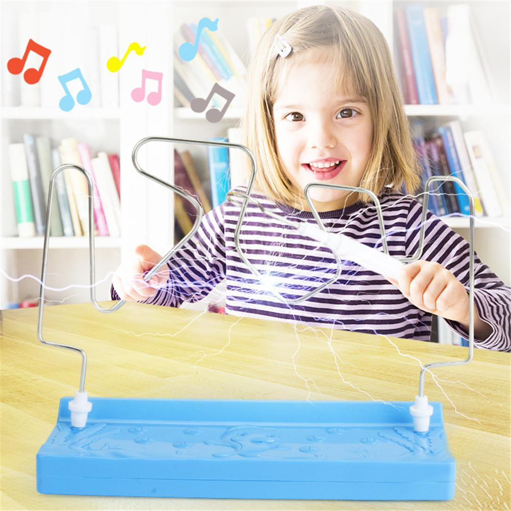 Kids Collision Electric Shock Toy Education Electric Touch Maze Game Party Funny Game Science Experiment Toys For Children Gift