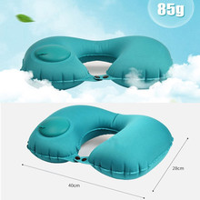 New Automatic Inflatable Travel Pillow U-Shape Airplane Neck Pillow Folding Portable Cushion Support Headrest Nap Car Pillow