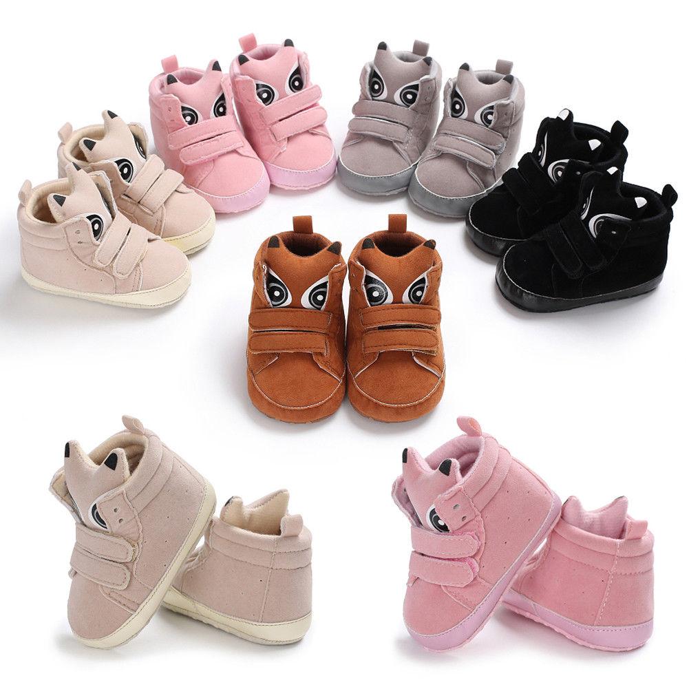 Toddler Infant Newborn Soft Sole Crib Shoes Sneaker Anti-Slip Baby Boy Girl Shoe