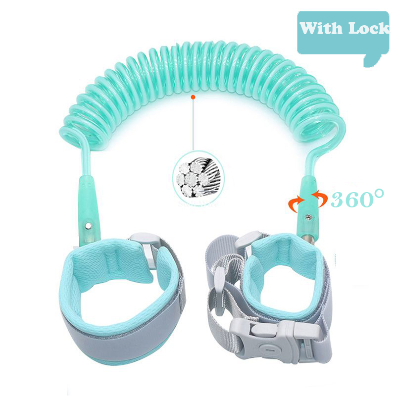 Upgrade Anti Lost Wrist Link Add Key Lock Toddler Leash Baby Walker Safety Belt Wristband Walking Strap Rope Adjustable Harness