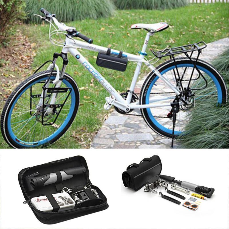 Herramienta de reparación de Bicicleta MTB con Kit de reparación de neumáticos con bomba de aire