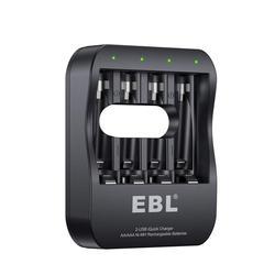 EBL Smart отдельных Батарея Зарядное устройство с всего за 2 часа супер iQuick Технология и 2USB Вход Порты для никель-металл-гидридных аккумуляторов...