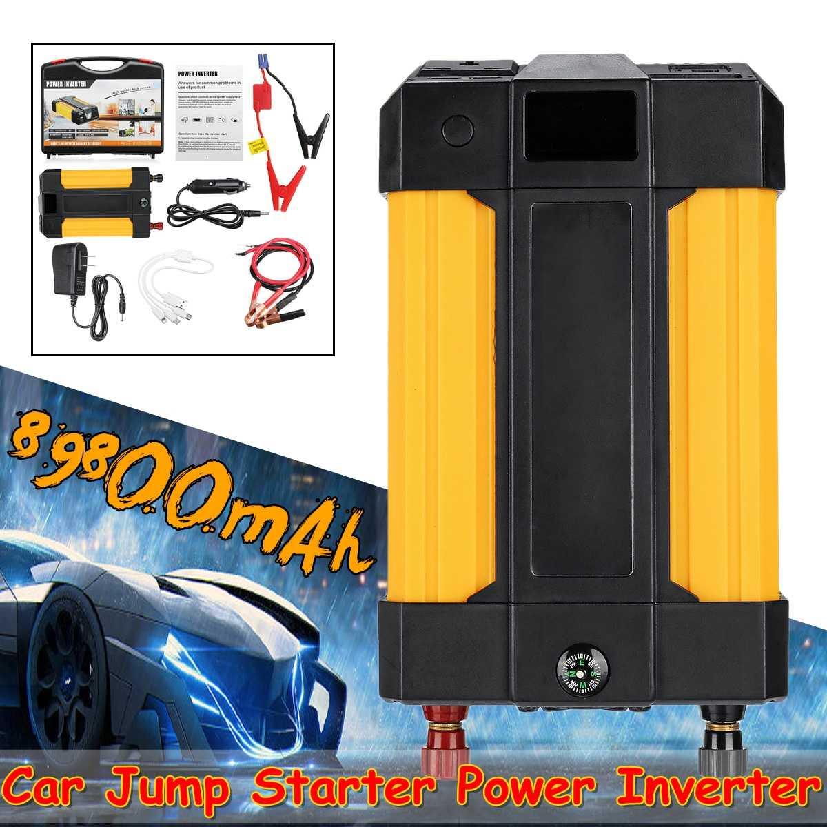 Haute capacité 89800 mAh démarrage dispositif Booster 12 V Portable voiture saut démarreur batterie externe voiture démarreur 400 W onduleur