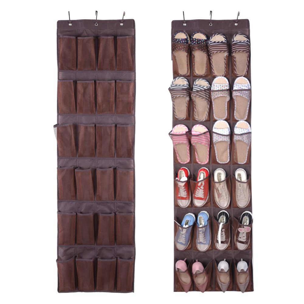คุณภาพสูง 26 แขวนกระเป๋าจัดเก็บรองเท้าชั้นวางรองเท้าตู้แร็คประหยัดพื้นที่ Organizador De Zapatos