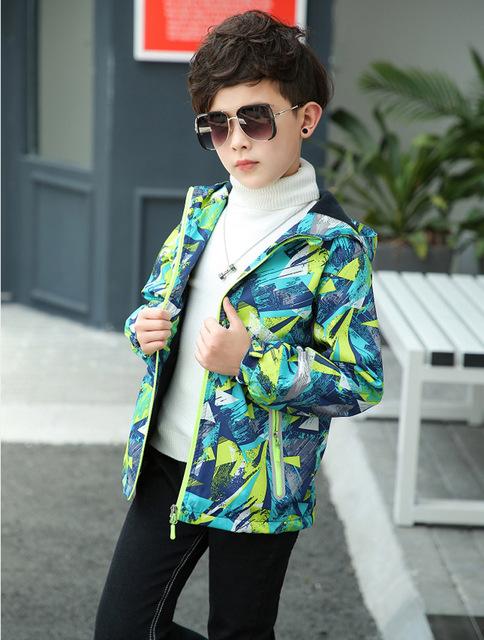 2019 Spring Boys Girls Jackets Kids Boys Outerwear Waterproof Windproof Hoodies Jackets For Children's Polar Fleece Coat