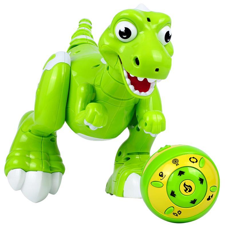 1 pièces télécommande dinosaure marche Interative danse pulvérisation eau dinosaure Robot jouet pour enfant en bas âge enfants