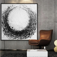 Artist Art High Quality Modern Black and White Oil Painting on Canvas 100%Hand Painted Large Size Abstract