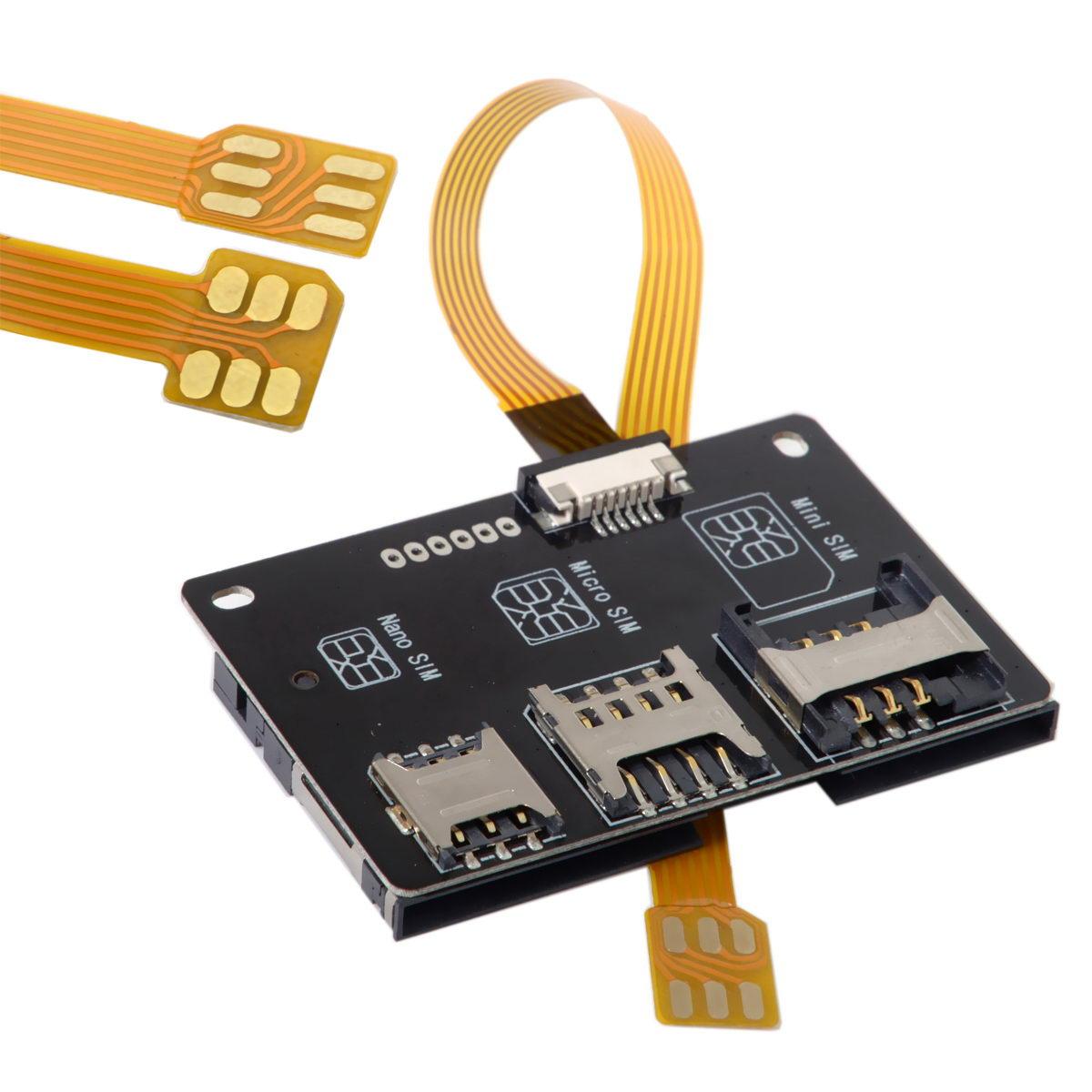 10pcs/lot   Activation Tools Converter Nano SIM to Smartcard IC Card Extension for Micro & Nano SIM Card Adapter Kit