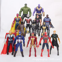 FLXL Avengers 14 in 1 Iron Man Spiderman Defensive Captain America Marvel Legends Model Action Figure Collection Toys Gift(China)