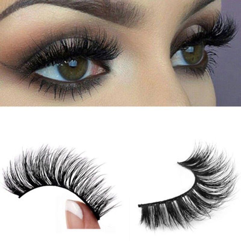 eyelashes false mink 3d lashes natural thick eye eyelash fake makeup individual magnetic lash soft single extension handmade beauty thicker