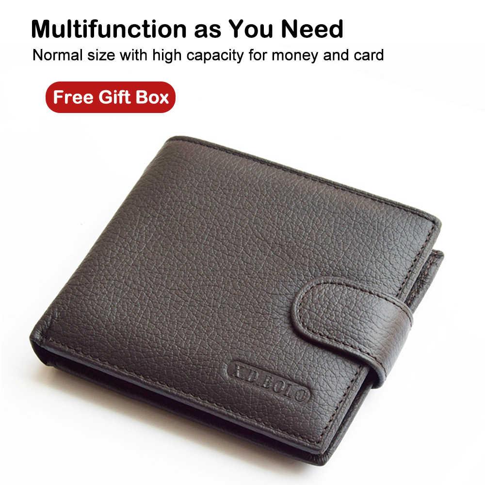 X. d. bolo carteira masculina couro de vaca genuíno homem carteiras com moeda bolso homem bolsa de couro saco de dinheiro masculino carteiras atacado