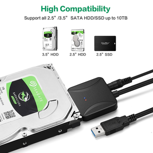 Image 2 - 40CM USB 3.0 to Sata Adapter Converter Cable USB3.0 Cable Converter For Samsung Seagate WD 2.5 3.5 HDD SSD Adapter