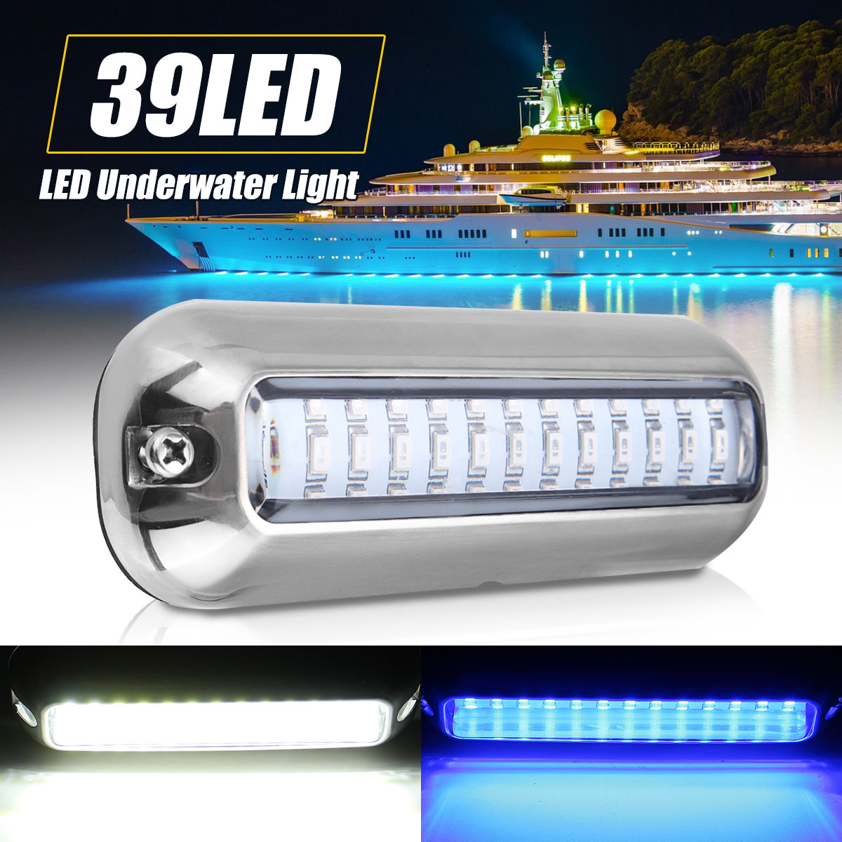 Automobiles & Motorcycles Reasonable 50w 27led Red/blue/green Boat Light Underwater Pontoon Marine Transom Light Ip68 Waterproof Stainless Steel Anchor Stern Lamp Boat Parts & Accessories