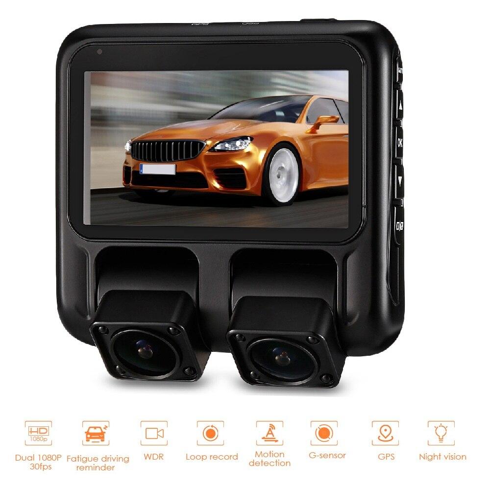 X100 Full HD 1080 P вождение автомобиля Регистраторы 3 дюйма ЖК-дисплей двойной Камера s Видеорегистраторы для автомобилей регистраторы Loop Запись WDR...