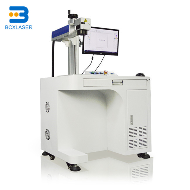 Jewelry Ring Engraving Fiber Laser Marking Machine With Rotary 20W