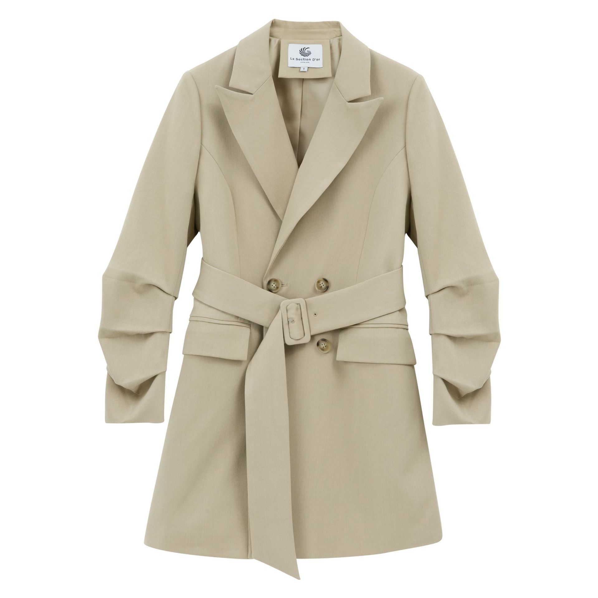 TITOTATO 2019 Spring Double Breasted Office Ladies Loose Suit Coat Full Women Casual Solid Notched Long Outerwear Femme Jacket